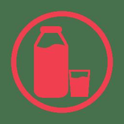 Milk allergy red icon