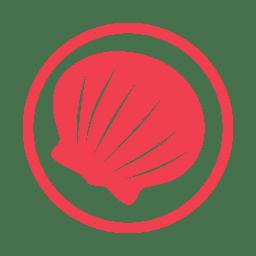 Molluscs allergy red icon