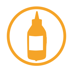 Mustard allergy amber icon