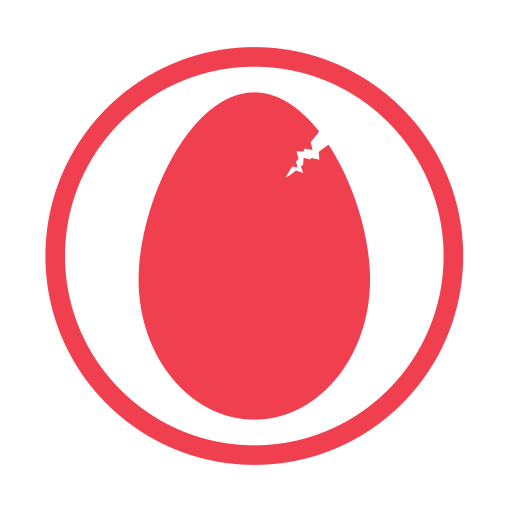Eggs-allergy-red icon