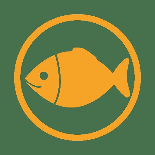 Fish allergy amber icon