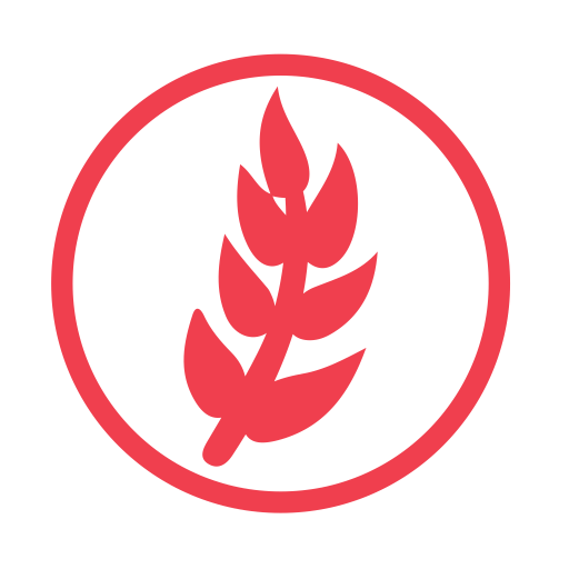 Wheat allergy red icon