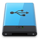 Blue USB B icon