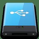 Blue USB W icon