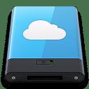 Blue iDisk W icon