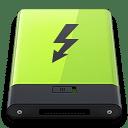 Green Thunderbolt icon