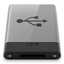 Grey USB B icon