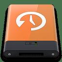 Orange Time Machine W icon
