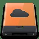 Orange iDisk B icon