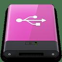 Pink USB W icon