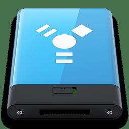 Blue Firewire W icon