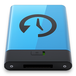 Blue Time Machine B icon