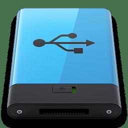 Blue USB B icon