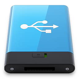 Blue USB W icon