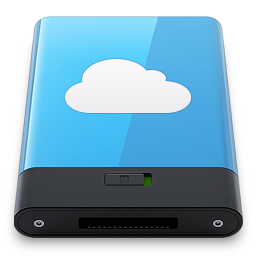 Blue iDisk W icon