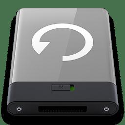 Grey Backup W icon