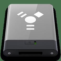 Grey Firewire W icon