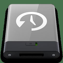 Grey Time Machine W icon