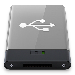 Grey USB W icon