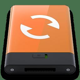 Orange Sync W icon