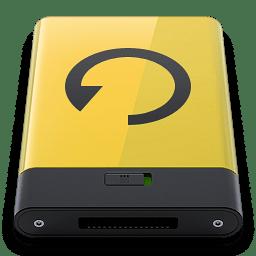 Yellow Backup icon