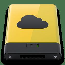 Yellow iDisk icon