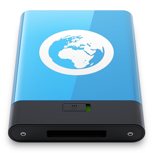 Blue-Server-W icon