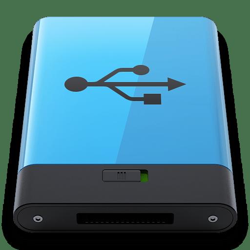 Blue-USB-B icon