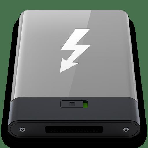 Grey-Thunderbolt-W icon