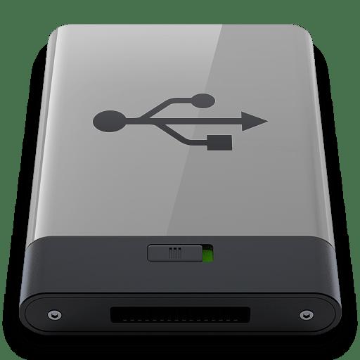 Grey USB B icon