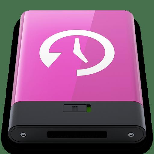 Pink Time Machine W icon