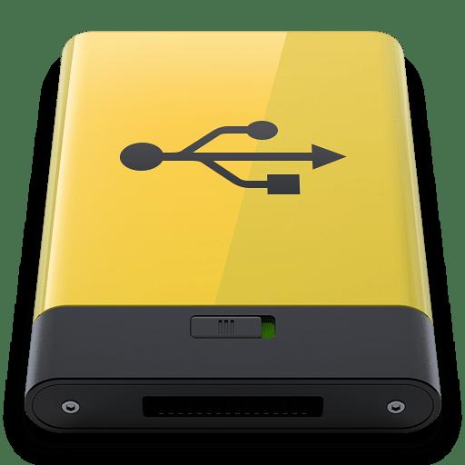 Yellow-USB icon