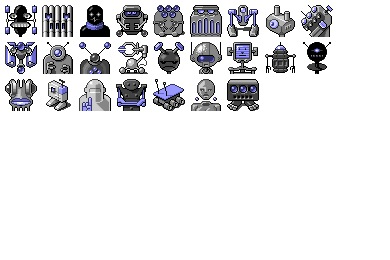 Robot Menace Icons