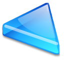 Action arrow blue left icon