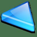 Action arrow blue left icon