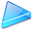 Action arrow blue right icon