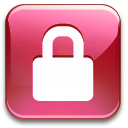 Action lock pink icon