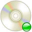 Device cd writer mount icon