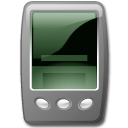 Device pda black icon