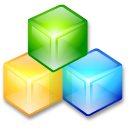 Filesystem blockdevice cubes icon