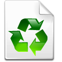 Mimetype recycled icon