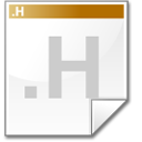 Mimetype source h icon