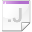 Mimetype source j icon