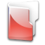 Filesystem folder red icon