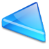 Action-arrow-blue-left icon