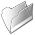 Filesystem-folder-grey-open icon