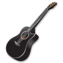 Black guitar icon