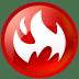Circle fire icon