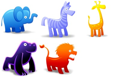 Animal Toys Icons