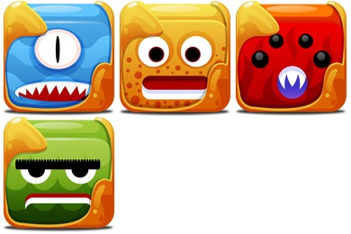 Block Creatures Icons